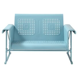 Veronica Patio Glider in Carribean Blue