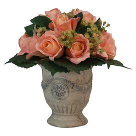 Faux Rose Arrangement
