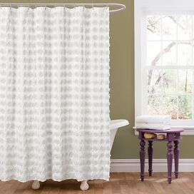 Emma Shower Curtain in White