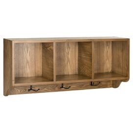 3-Cubby Wall Rack in Oak