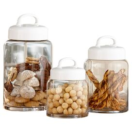 3-Piece Glass Canister Set
