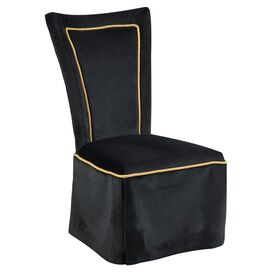 Allison Side Chair in Queen Black