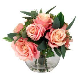 Faux Pink Rose