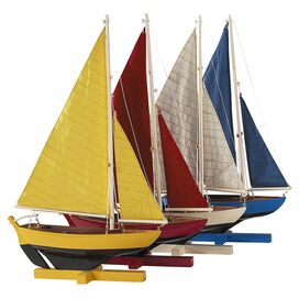 Sunset Sailboat Decor (Set of 4)