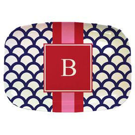Personalized Scallops Melamine Platter