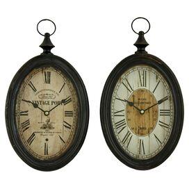 Lorina Wall Clock (Set of 2)