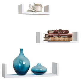 3-Piece Kyle Wall Shelf Set in White