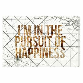 Pursuit of Happiness Canvas Print, Oliver Gal