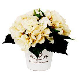 Faux Cream Hydrangea in French Pot