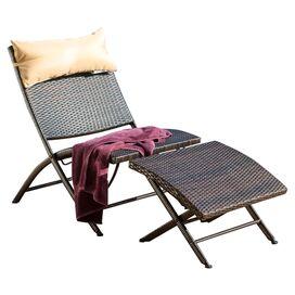 2-Piece Bay Lounge Chair & Ottoman Set