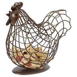 Sitting Rooster Basket