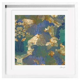 Turquoise Deco Framed Print, Oliver Gal