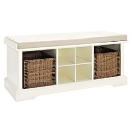 Cassidy Storage Bench in White