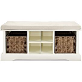 Cotilde Storage Bench in White