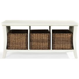 Watertown Storage Bench in White