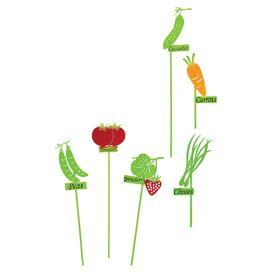 6-Piece Legume Garden Marker Set