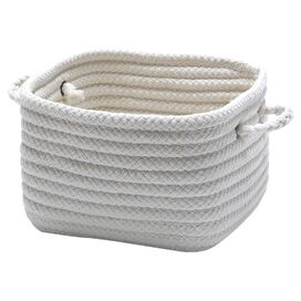 Braided Utility Basket in White