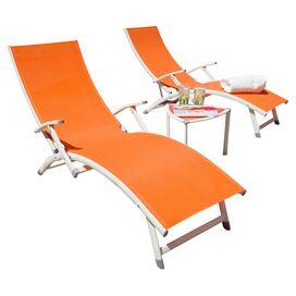 3-Piece Selena Patio Lounge Set in Orange