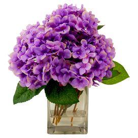 Faux Lavender Hydrangea