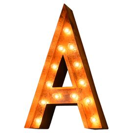 Alphabet Indoor/Outdoor Marquee Light
