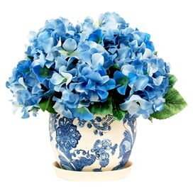 Faux Potted Hydrangea