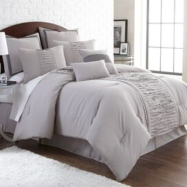 8-Piece Marnie Comforter Set in Gray
