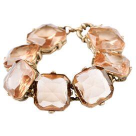Gemmed Bracelet in Champagne Pink