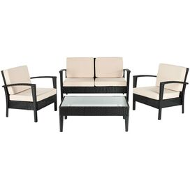 4-Piece Stratford Rattan Patio Seating Group Set