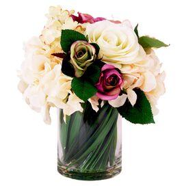 Faux Rose & Hydrangea