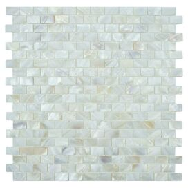 Mosaic Tile in White (Set of 10)