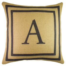 Personalized Letter Pillow in Beige