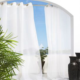 Aruba Indoor/Outdoor Curtain Panel in White