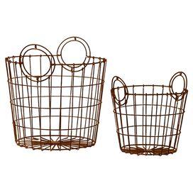 2-Piece Lacey Basket Set