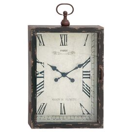 Florette Wall Clock in Weathered Brown