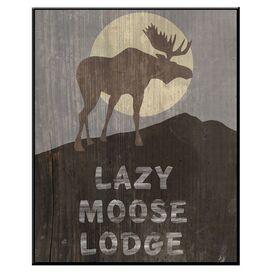 Lazy Moose Framed Giclee Print