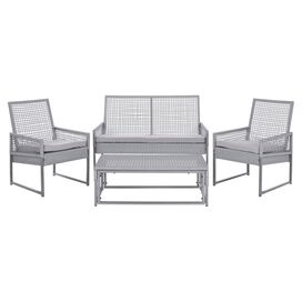 4-Piece Shawmut Patio Seating Group Set in Grey