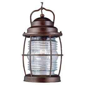 Beacon Patio Hanging Lantern in Gilded Copper