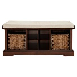 Cassidy Storage Bench in Mahogany