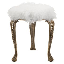 Nila Stool in White