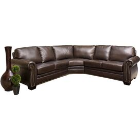 """Empire 109"""" Leather Sectional Sofa"""