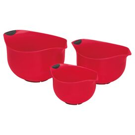 Cuisinart 3-Piece Ella Mixing Bowl Set in Red