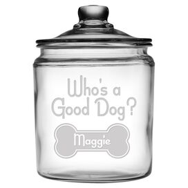 Personalized Good Dog Jar