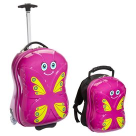 2-Piece Bella Butterfly Luggage Set