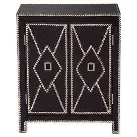 Diamond Nailhead Chest in Black & Silver