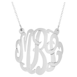 Personalized Mirabeth Necklace in Silver by Bridget Kelly