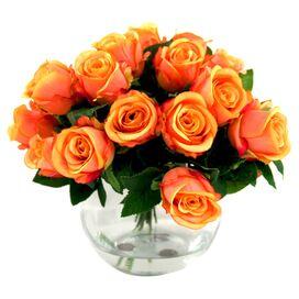 Faux Orange Rose