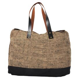 Kaleigh Jute & Leather Tote