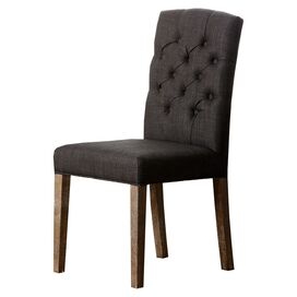Colin Tufted Side Chair in Grey
