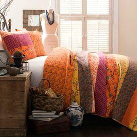 Empire Quilt Set in Tangerine
