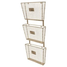 Wire 3-Basket Wall Organizer